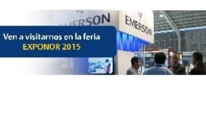 Emerson presentará soluciones tecnológicas para aumento de productividad en la industria en Exponor 2015