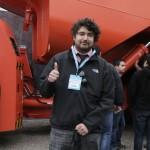 """El ganador del concurso """"Trivia Minera Sandvik"""", Rodrigo Soto, estudiante de Ingeniería Civil en Metalurgia de la Universidad de Santiago. (Foto: Sandvik)"""