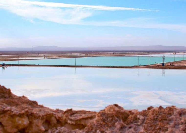 SQM - Pozas de evaporacion solar, faena Nueva Victoria